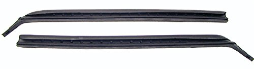 67-69 Camaro Firebird Quarter Window Vertical Weatherstrip with Steel Spline - LH/RH (Sold as a Pair) Vertical Weatherstrip