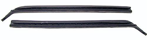 67-69 Camaro Firebird Quarter Window Vertical Weatherstrip with Steel Spline - LH/RH (Sold as a (69 Camaro Quarter Window)