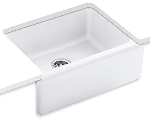 KOHLER K-6573-5U-0 Alcott Apron-Front, Undercounter Kitchen Sink, White ()