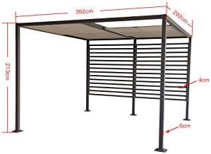 Jet-line Gazebo Amun - Cenador para jardín (3 x 4 m, protección solar, aluminio): Amazon.es: Jardín