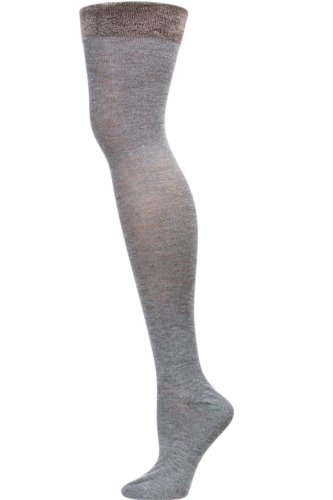 c930f19b8 Image Unavailable. Image not available for. Color  Sockaholic Womens Grey  Plush Cuff Thigh-High Socks 1 ...