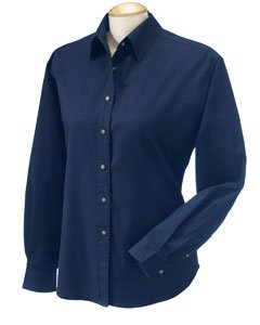 Devon & Jones Classic Titan Long Sleeve Twill Shirt For Women. D500W - Devon And Jones Twill Shirt