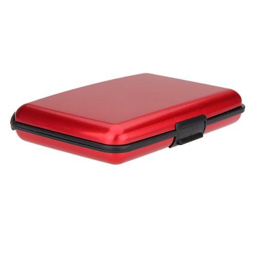 Wasserdicht Alu Kreditkartenetui Visitenkarten-Etui Scheckkarten-Etui Business ID Credit Card Wallet Holder Pocket Case Box Rot