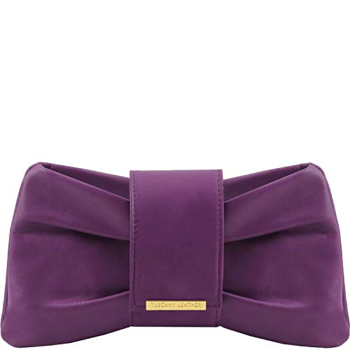 Dark Priscilla Tuscany Leather Handbag Purple Blue Clutch FzAIUTw1q