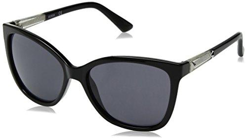 GUESS Women's Acetate Square/cat-Eye Cateye Sunglasses 01B 58 mm ()