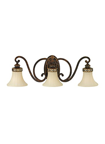 3 Light Edwardian Walnut - 1
