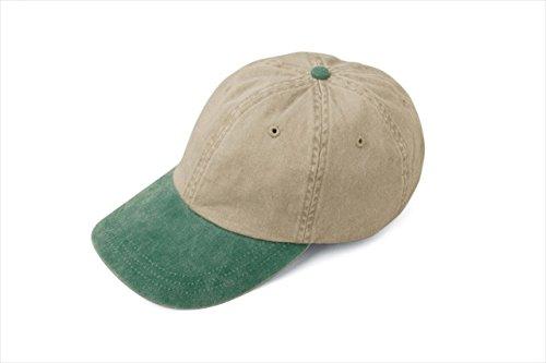 Adams Optimum Stone Crown Pigment Dyed Twill Cap (Stone_Royal) (ALL) (Pigment Solid Cap Dyed Twill)