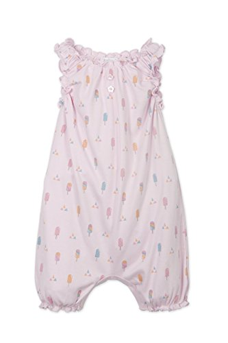 lothes Pima Cotton Sleeveless One-Piece Sunsuit Shortie Baby Romper, 3-6 Months, Popsicles-Colors on Soft Pink ()
