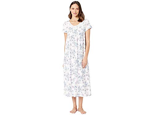 Carole Hochman Women's Short Sleeve Long Gown Navy Sketch Floral Large from Carole Hochman