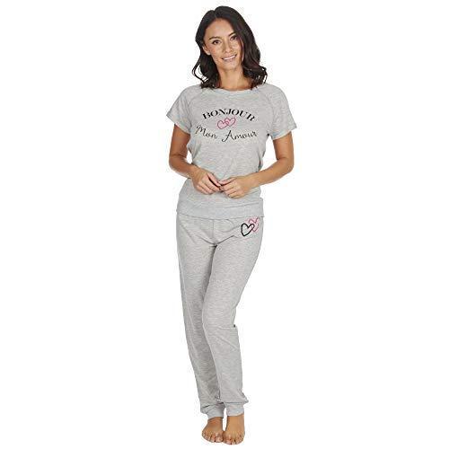 TALLA Large (16-18). Damas Pantalón Chándal Estilo Pijamas Mezcla De Algodón