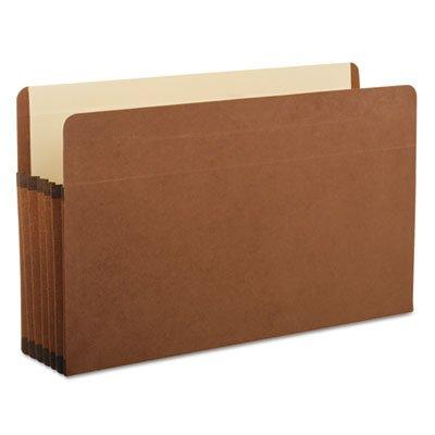 Premium Reinforced 5 1/4'' Expansion File Pocket, Red Fiber, Legal, 5/Box, Total 50 EA, Sold as 1 Carton