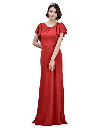 De Vestidos Rojo Alicepub Del La Honor Dama W Formal Partido Maxi Gasa Sirena De De Entrenar Vestido Noche 44wqFr7