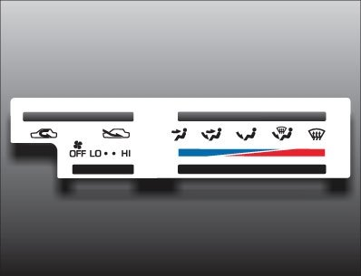 1989-1995 Toyota 4Runner Pickup Truck White Heater Control Overlay HVAC Heater Control Face
