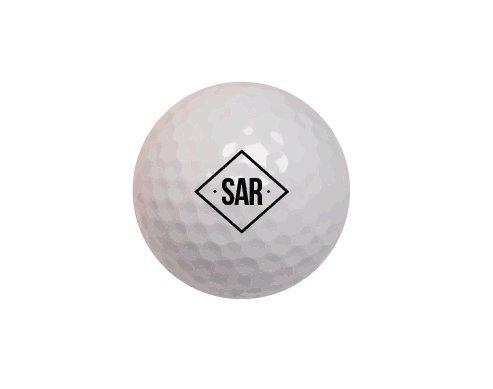 Personalized Golf Balls TaylorMade Noodle Long & Soft Monogrammed Golf Balls- Diamond Monogram Set of 12