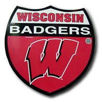 - Wisconsin Badgers Plastic Interstate Route Sign