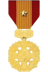 Medals of America Vietnam Gallantry Cross Medal with Gold Star Anodized