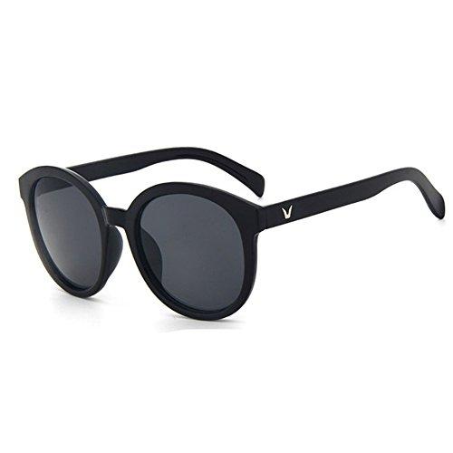 55mm R¨¦fl¨¦chies Uv400 Unisexes Vintage De Soleil p Rondes Z Black New Pour Lunettes 1POfqBS