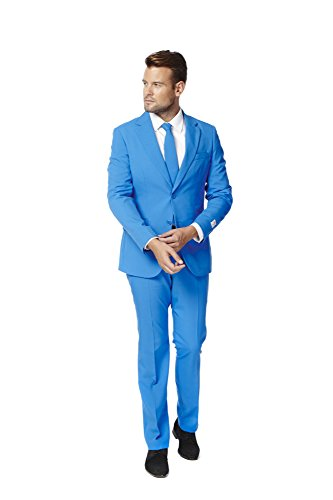 Mens 'Blue Steel' Party Suit and Tie by OppoSuits, (Man Of Steel Suits)