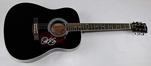 Jon Bon Jovi Slippery When Wet Signed Autographed Full Size Black Acoustic Guitar Loa