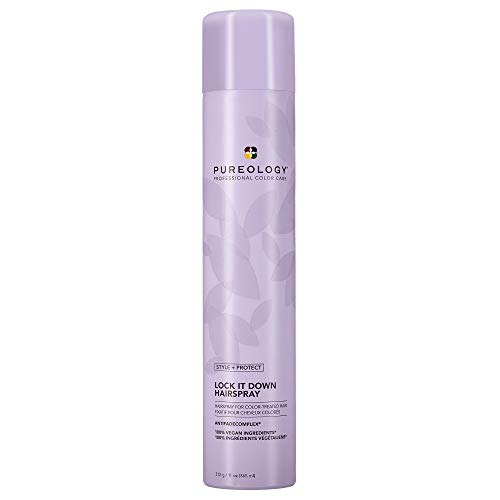 Pureology Style + Protect Lock It Down Hairspray for Color-Treated Hair, Maximum Hold