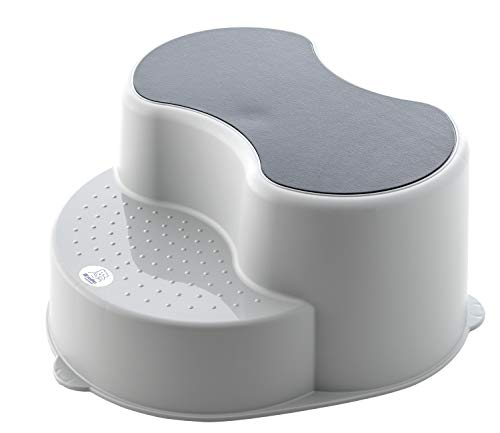 Rotho Babydesign Top opstapkruk voor kinderen, antislip oppervlak, Stone grey