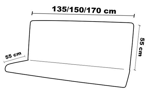 135, 55 Maratex Completo Altalena Seduta Schienale e Cappottina MOD Unito Fango 3 Posti
