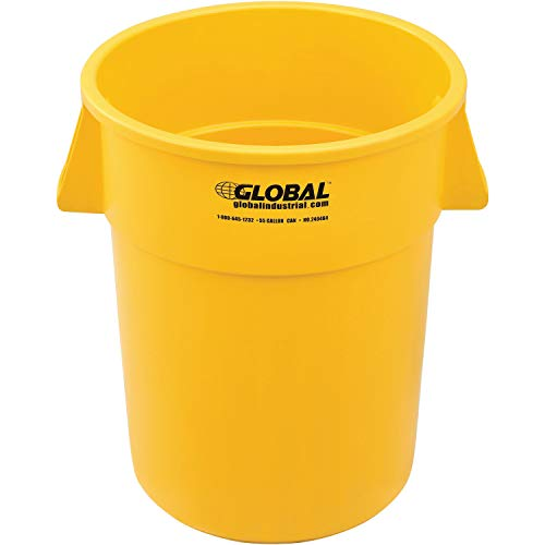 Global Industrial 55 Gallon Garbage Can, Yellow ()