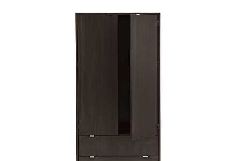 (Urbangreen HL5MEbo High Line Armoire in Maple, Ebony )