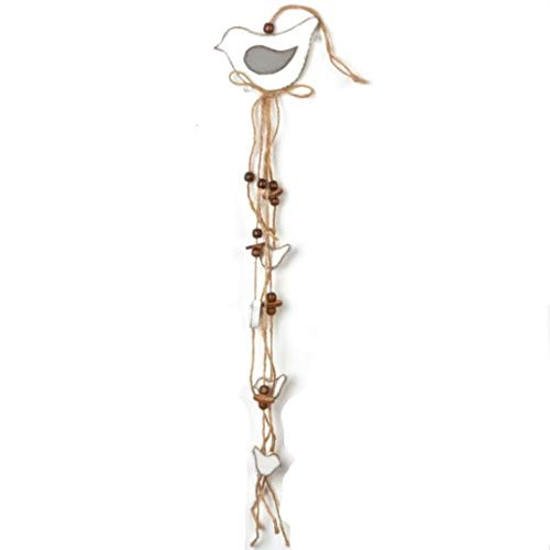 Jcook Home Decor Wood Rope Hanging Bird Garland