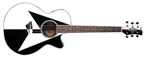dean acoustic guitar white - 7