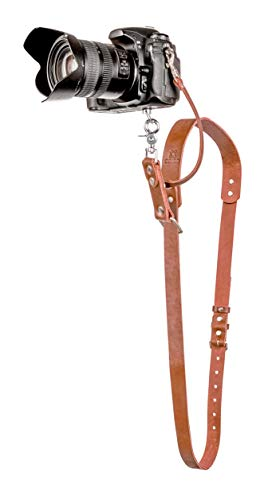 Camera Strap Accessories for One Camera - Professional Single Leather Harness Shoulder Strap Solo Camera Quick Release Gear for DSLR/SLR ProInStyle Strap (Tan)