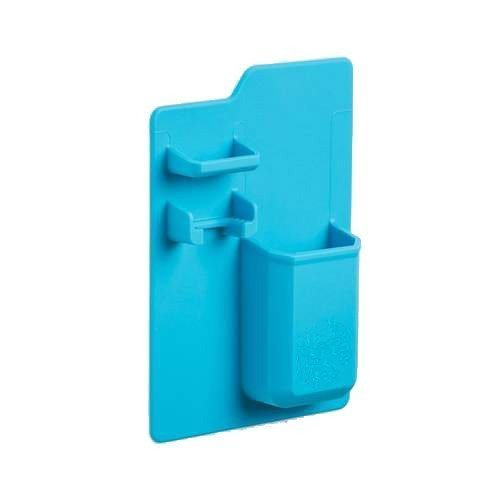 Bamboo's Grocery Silicone Toothbrush Holder, Mighty Toothpaste Razor Holder Bathroom Must Have Organizer Storage, 1 Pcs, Blue (blue)