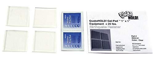 Quakehold! Gel Pad Seismic Fastener, Clear - RD.G.1.4.1, 2 packs (Gel Quakehold)