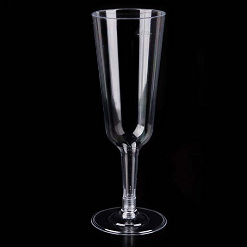 Mimosa Dessert (Champagne Flutes Clear Party Cups Hard Plastic Wine Glasses Perfect for Wedding Mimosas Parfaits Sundaes and other Desserts 5 oz)