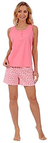Pink Lady Women's 2 Piece Pajamas Tank Top and Shorts Loungewear Set (Pink Butterflies XX-Large) - Tank 2 Piece Set