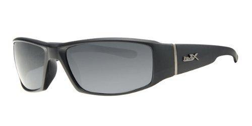 REVEX polarisierte sportliche Herren SONNENBRILLE Sportbrille Biker Rad Brille mit Brillenbeutel Silber Schwarz eeyrtE1NzX
