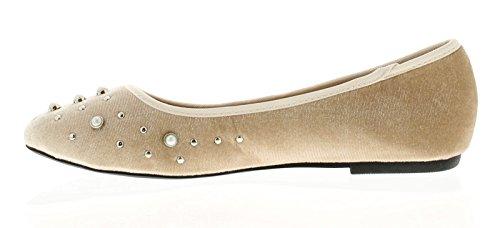 Apache Pearl Damen Flache Elfenbein - Elfenbein - UK Größen 3-8