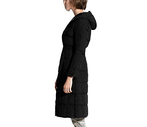 Mujeres De Delgado Ayguste Con Outwear Mujer A Chaqueta Prueba Invierno Abrigo Abajo Viento Cálido Ropa Espesar Larga Negro Pato XwOCSOxtq