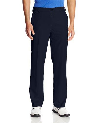 IZOD Men's Flat Front Traditional Slim Fit Basic Microtwill Golf Pant, Midnight, 33W x 30L