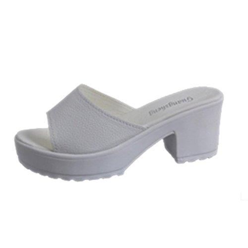 Moda Infradito Ladies Bianco Mare Piattaforma Alto Sandali Zeppe Soft Estate Sandali Pantofole Estive MEIbax Spiaggia Donne Tacco Scarp xgqAnIU