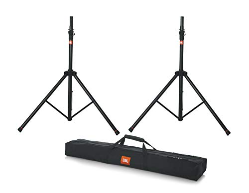 JBL Bags Standard Speaker Stand Set with Adjustable Height and Dual Diameter Pole; Includes (2) Speaker Stands and Carry Bag (JBLSPKSTMASET)