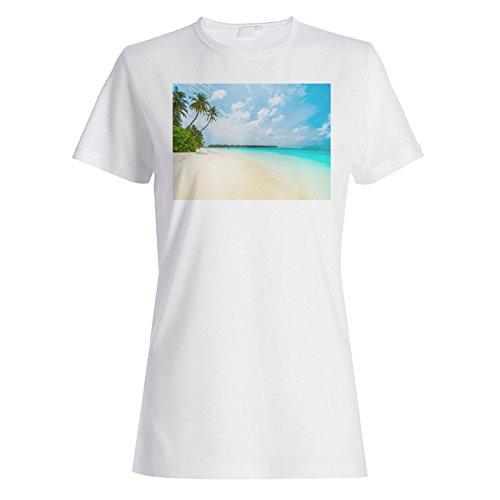 Vacaciones de playa increíble viajar el mundo camiseta de las mujeres b388f