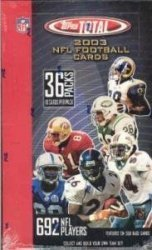 2003 Topps Total Football Cards Unopened Hobby box - Carson Palmer & Larry Johnson Rookie Year