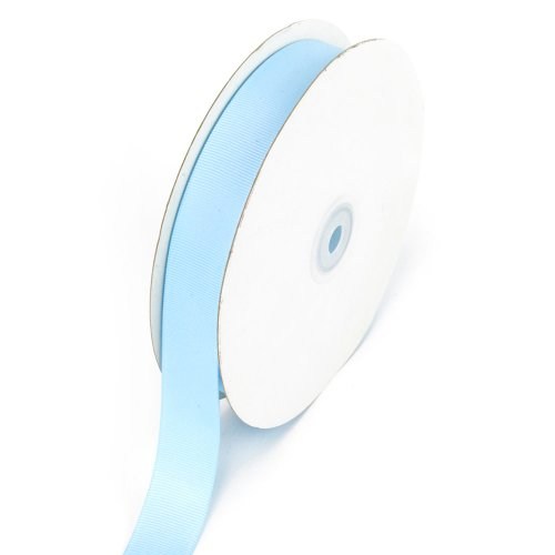Creative Ideas 7/8-Inch Solid Grosgrain Ribbon, 50-Yard, Light Blue -