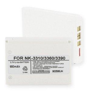 Nokia 3395 Cell Phone Battery (Li-Ion 3.7V 900mAh) - Replacement For Nokia 3310/3390 Cellphone Battery 3310 3390 3395 Cell Phones