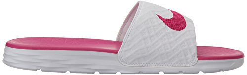 NIKE Women's Benassi Solarsoft Slide Sandal White/Fire Berry best store to get online latest sale online free shipping footlocker 11N07Yqf