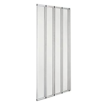 800x1400mm 4 Fold Folding Chrome Shower Bath Screen Glass Door Panel(FF80-4) by bLux: Amazon.es: Bricolaje y herramientas