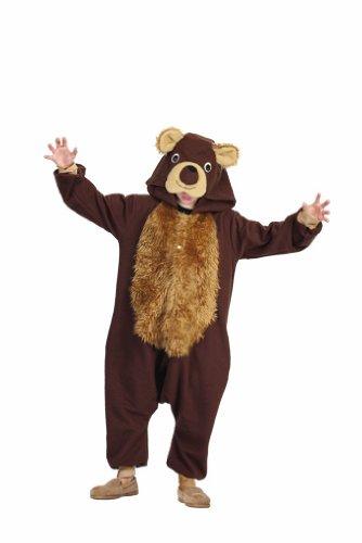 Child's Brown Bear Costume Pajamas Size Large (12-14)