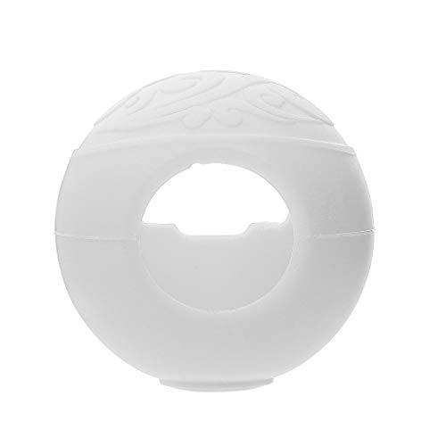 (Alimao Silicone Protective Cover Case for Nintendo Switch Poke Ball Plus Game Bag Eevee White)