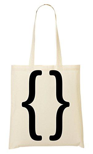 Curl Brackets Python Handbag Shopping Bag